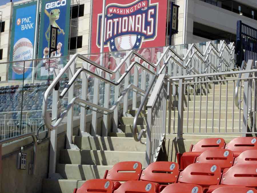 Washington Nationals Stadium wheelchair lift image on Bedco Mobility website