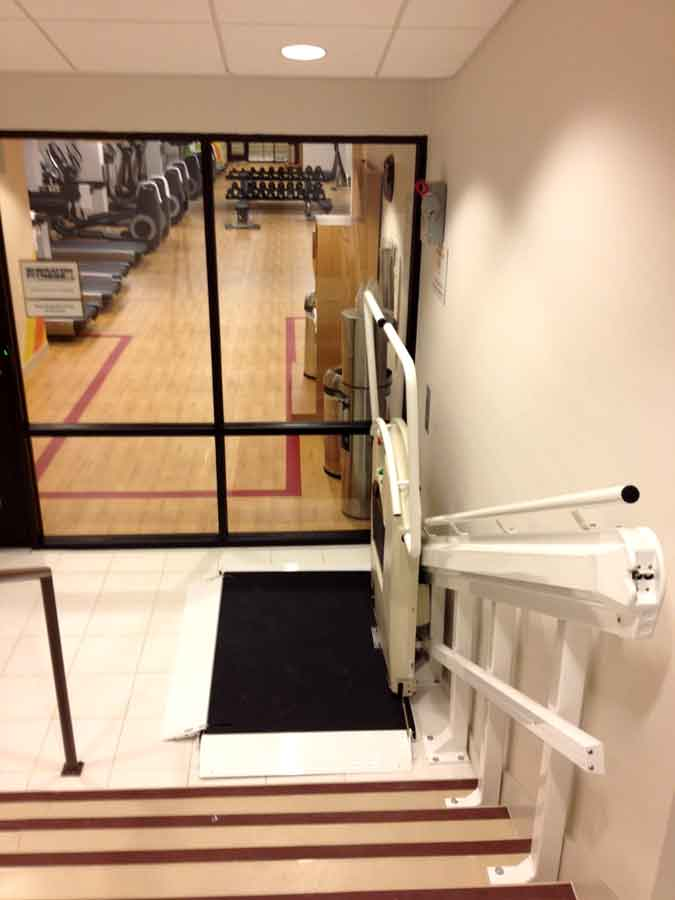 Sheraton gym wheelchair platform on Bedco Mobility website