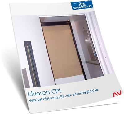 Elvoron vertical platform lift image on Bedco Mobility website