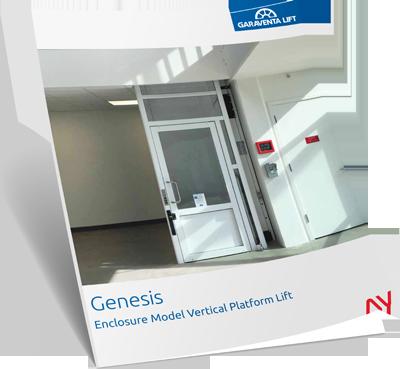 Genesis shaftway brochure image on Bedco Mobility website