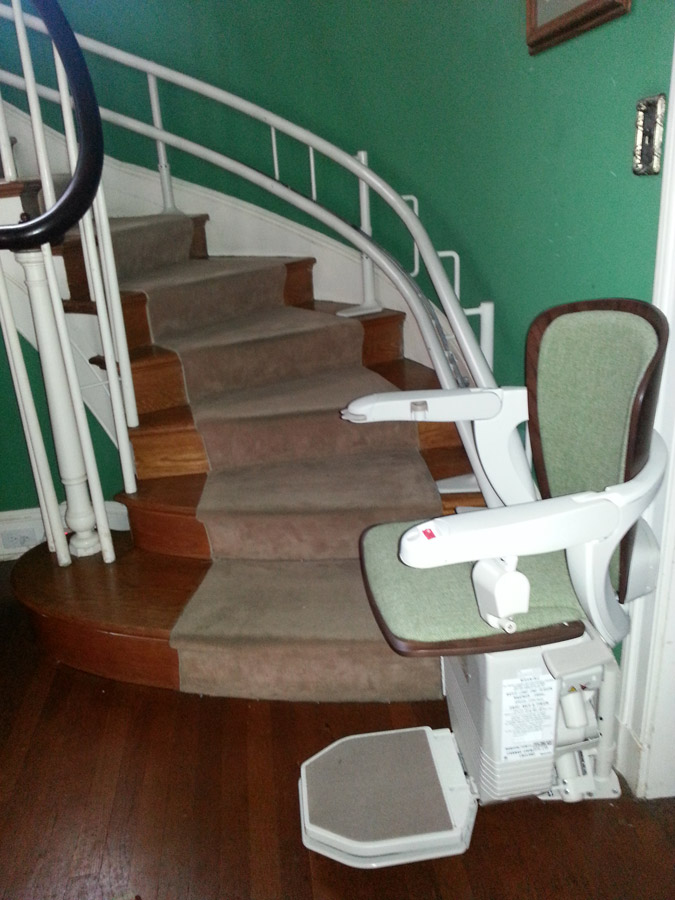 Stairlift image on Bedco Mobility website