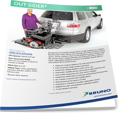 Bruno brochure image on Bedco Mobility website