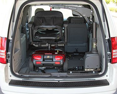 wheelchair accessible van on Bedco Mobility website