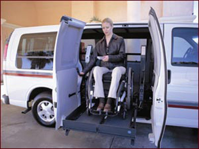 woman on Ricon Clearaway image on Bedco Mobility