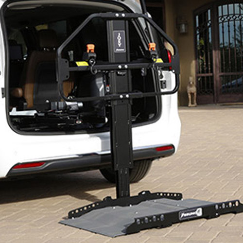 scooter lift image for van on Bedco Mobility
