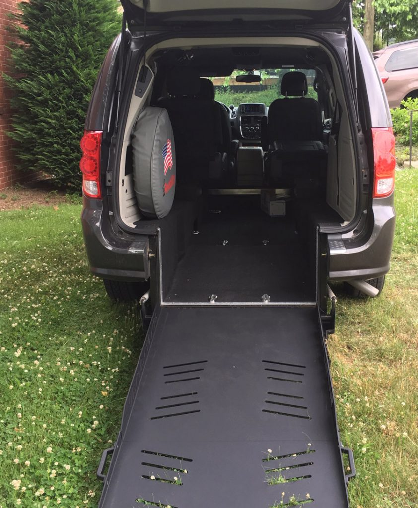 Dodge wheelchair accessible van image on Bedco Mobility website