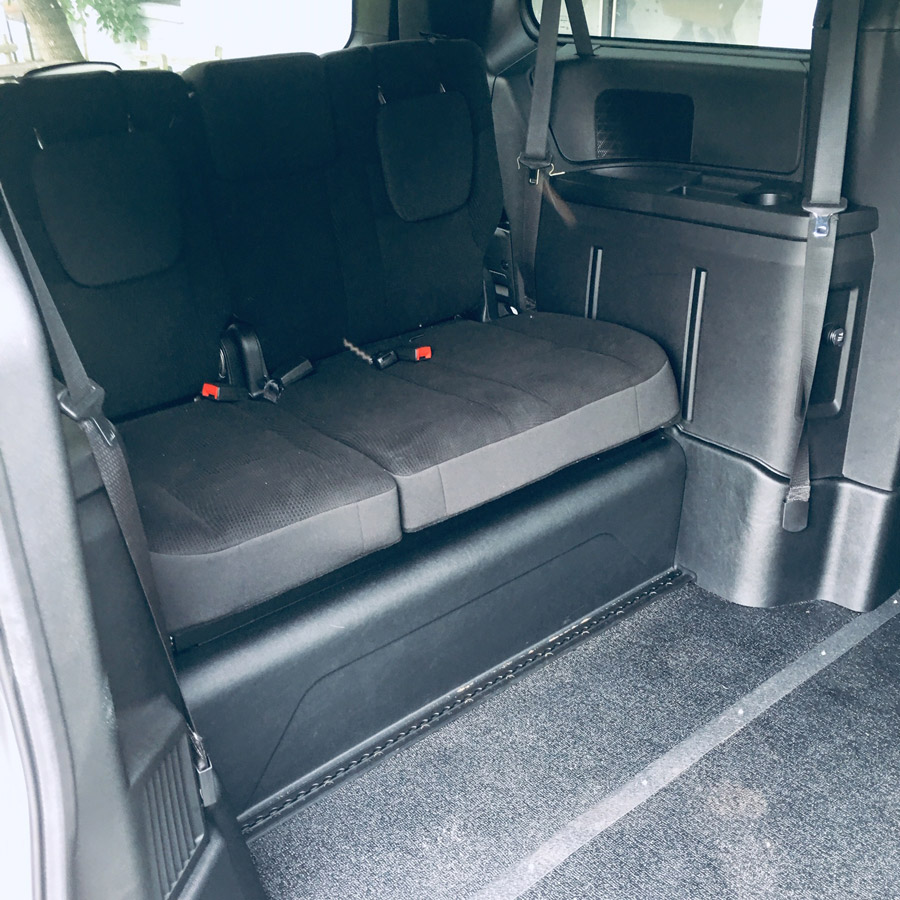 Dodge wheelchair accessible interior van on Bedco Mobility website