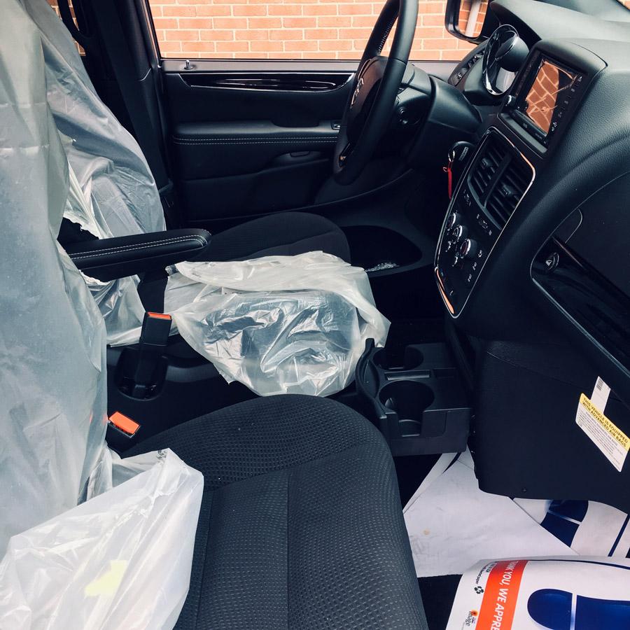 Dodge wheelchair accessible interior van image on Bedco Mobility website