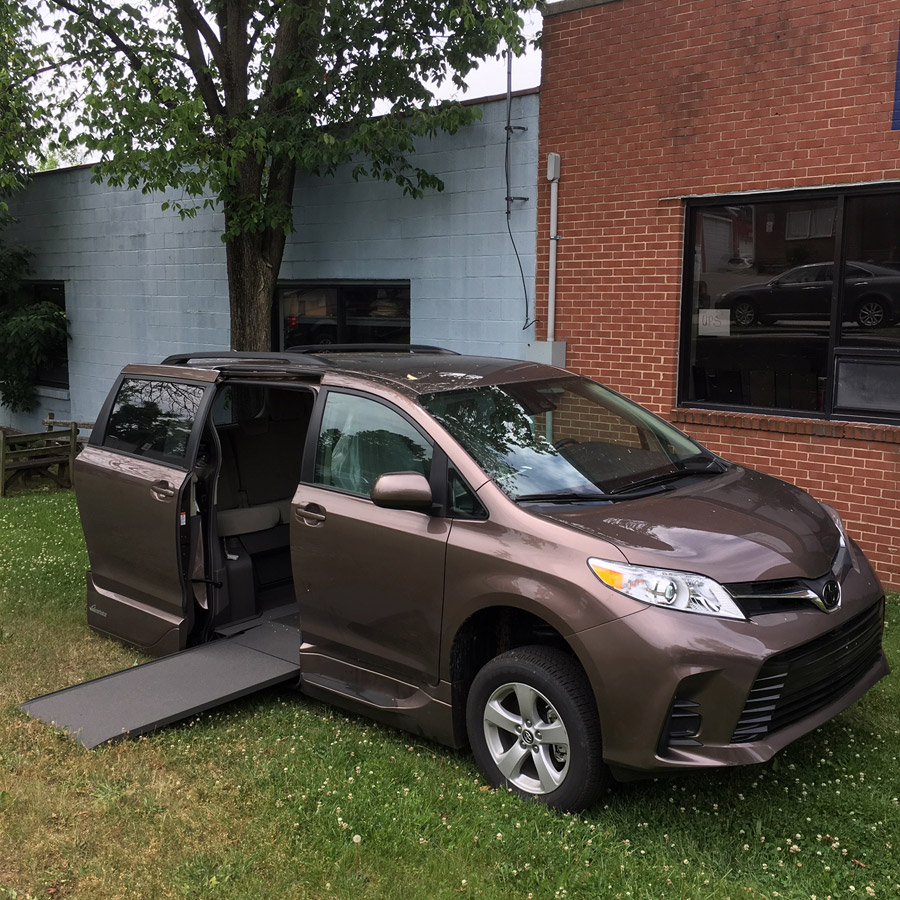 Toyota wheelchair accessible van image on Bedco Mobility website