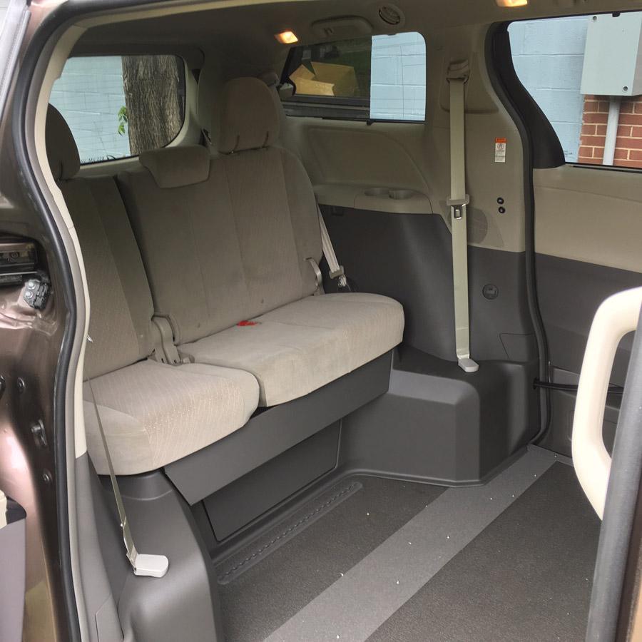 Toyota Siena interior image of wheelchair accessible van