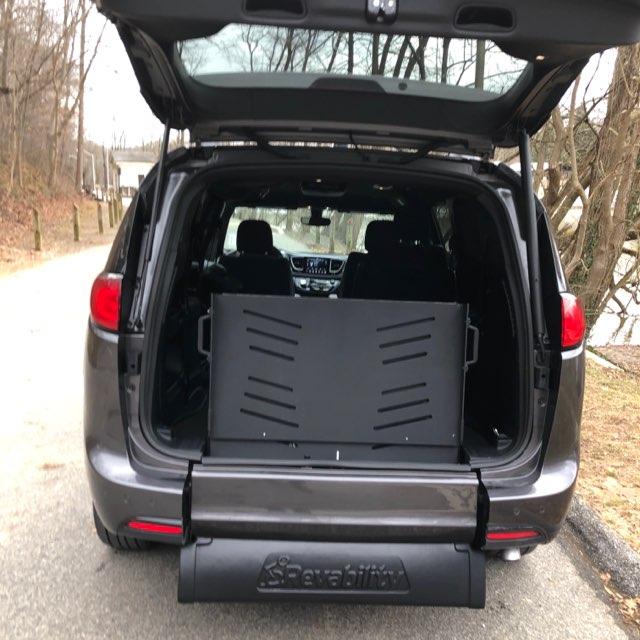 folded up wheelchair ramp