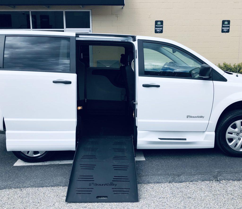 braun companionvan wheelchair ramp deployed
