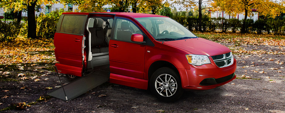 Dodge Grand wheelchair accessible interior van on Bedco Mobility website