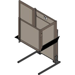 garaventa unenclosed wheelchair lift image on bedco mobility website