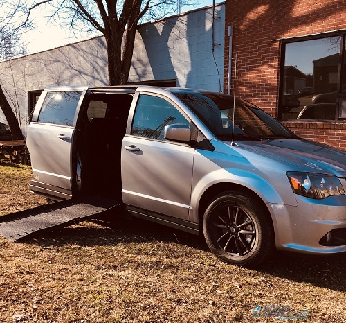 Side View of Dodge Caravan Accessible Van