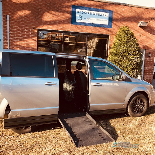Wheelchair Ramp Open Dodge Caravan Accessible Van