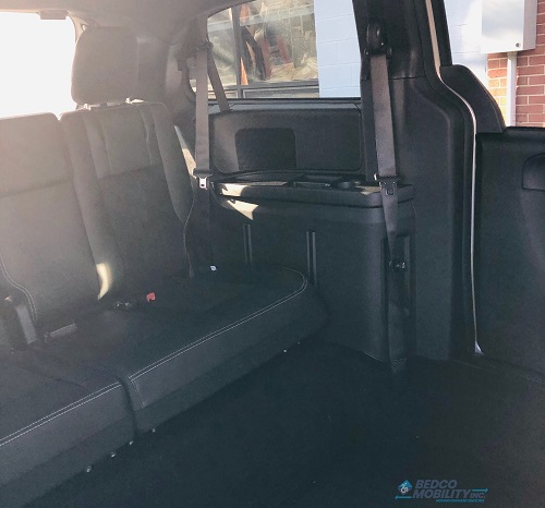 Back Seats of Dodge Caravan Accessible Van