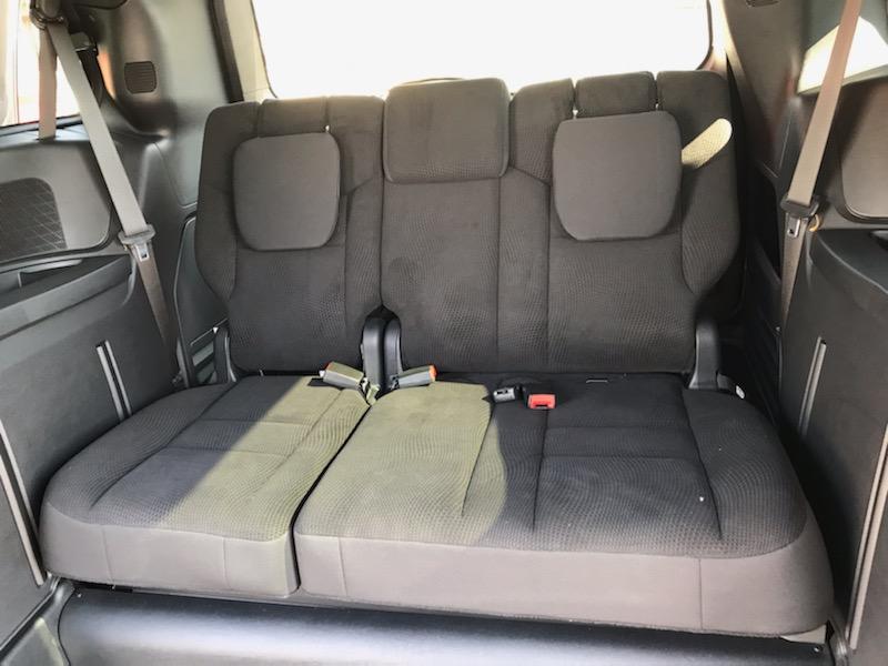 rear seats of minivan