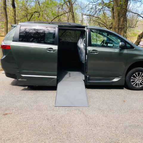 ramp deployed on Toyota XLE accessible van