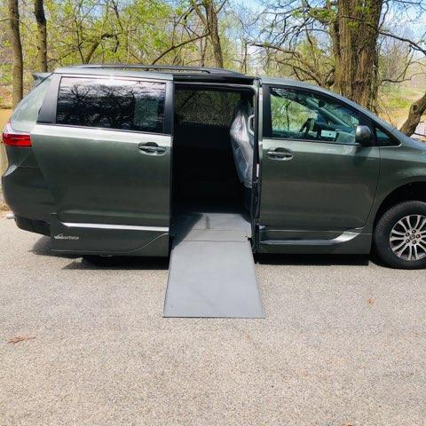 ramp deployed on Toyota XLE accessible van