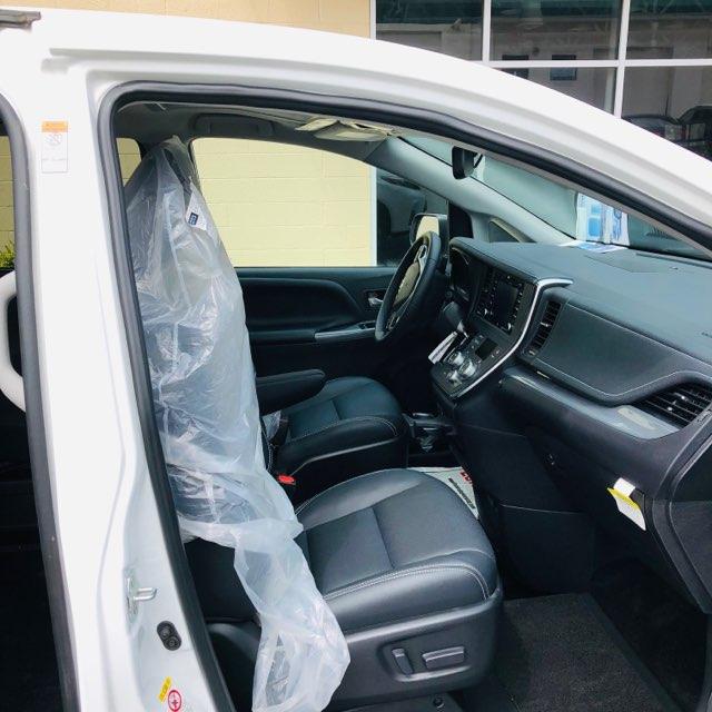 Front seats of Toyota wheelchair van