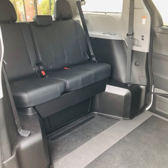 Back Seats of Toyota Sienna VMI Van