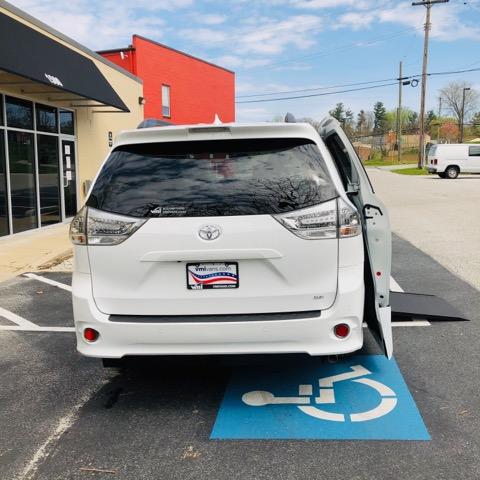 rear of Sienna wheelchair ramp van