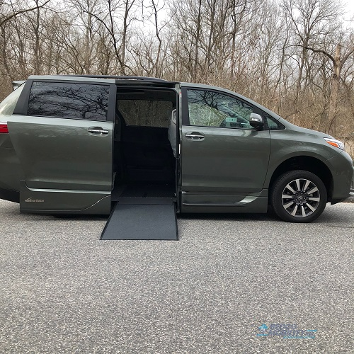 Ramp deployed Toyota Sienna accessible van