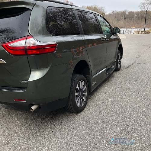 rear of Toyota accessible minivan