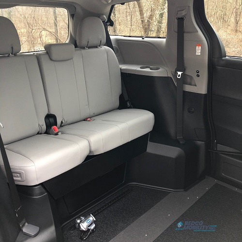 interior of wheelchair minivan