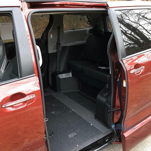 side door of toyota sienna accessible van