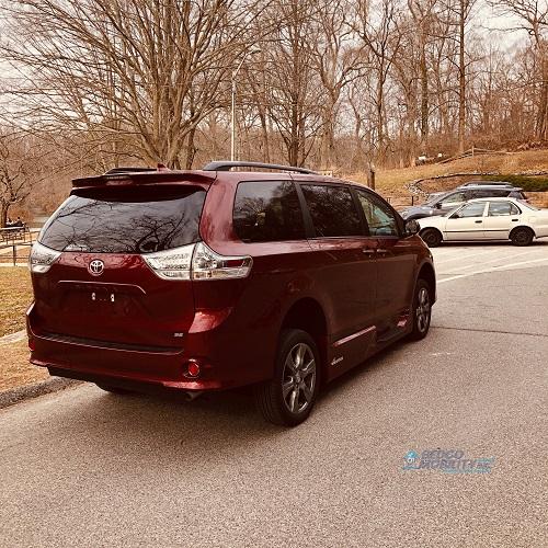 rear of toyota sienna accessible minivan