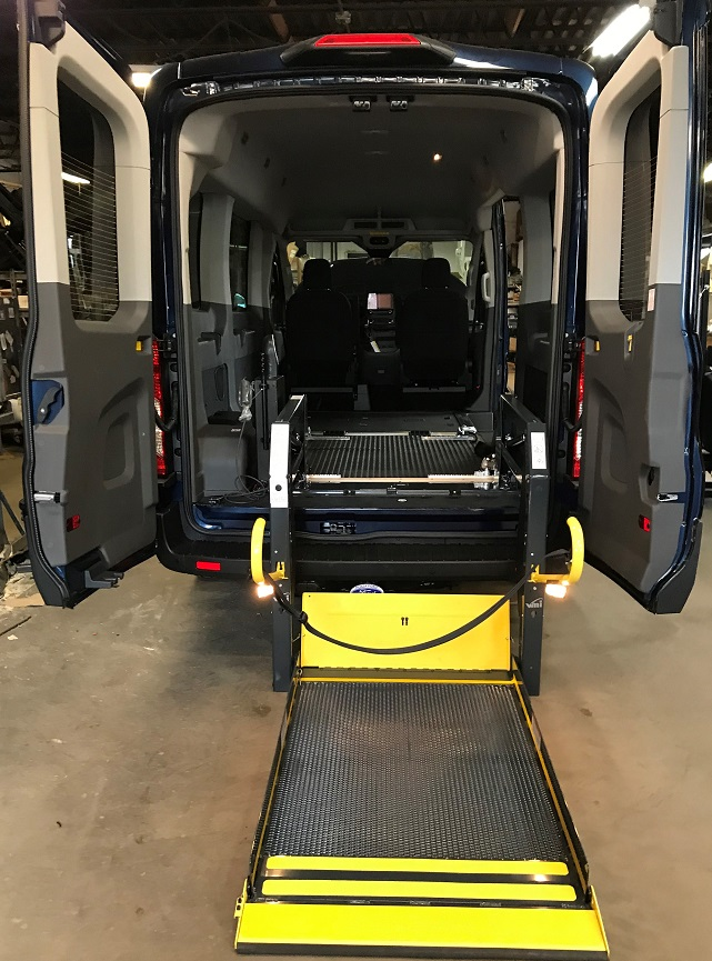 Deployed Ricon wheelchair van lift