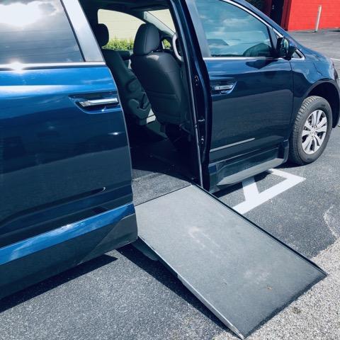 ramp deployed on honda odyssey
