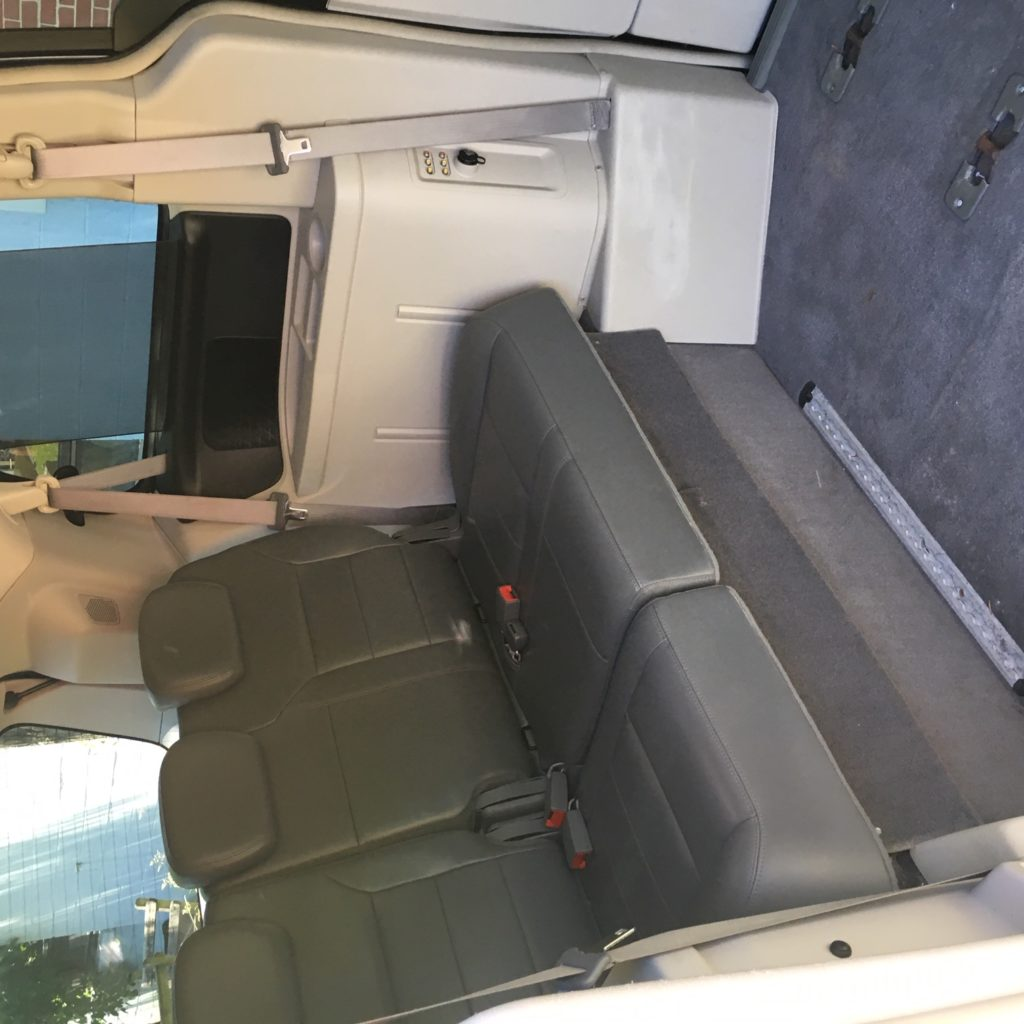 Back seats of Volkswagen wheelchair van