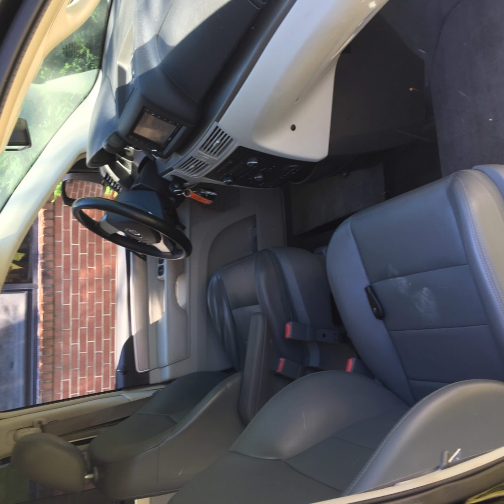 front seats of Volkswagen accessible van