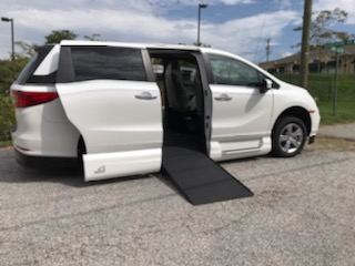 wheelchair ramp deployed honda minivan