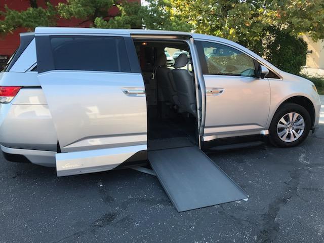 accessible van with ramp open