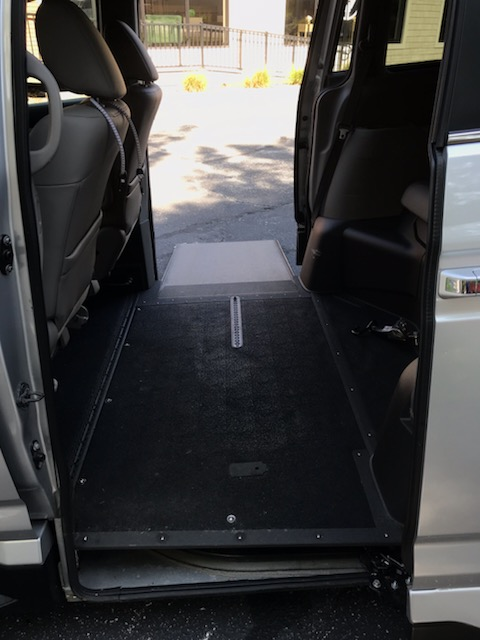 view of wheelchair ramp deployed