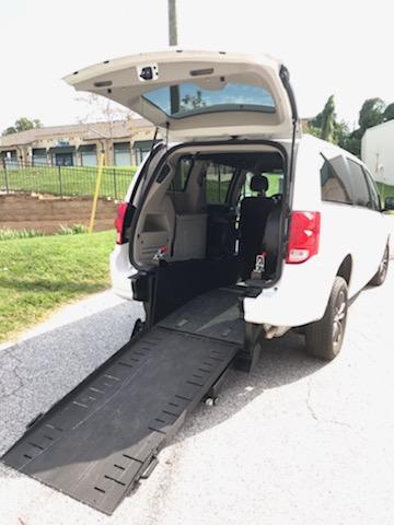rear entry wheelchair ramp van