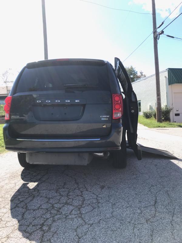 Dodge VMI Crew Van side ramp exit