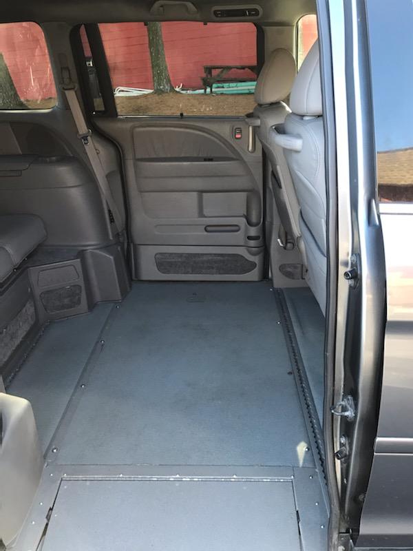 interior of accessible van